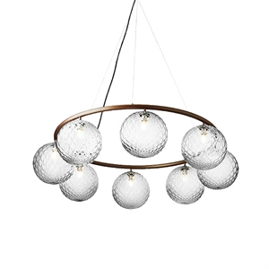 Nuura Miira 8 Circular Chandelier Dark Bronze/ Optic Clear