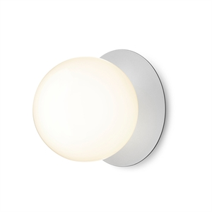 Nuura Liila Large Wall/Ceiling Lamp Silver/Opal White