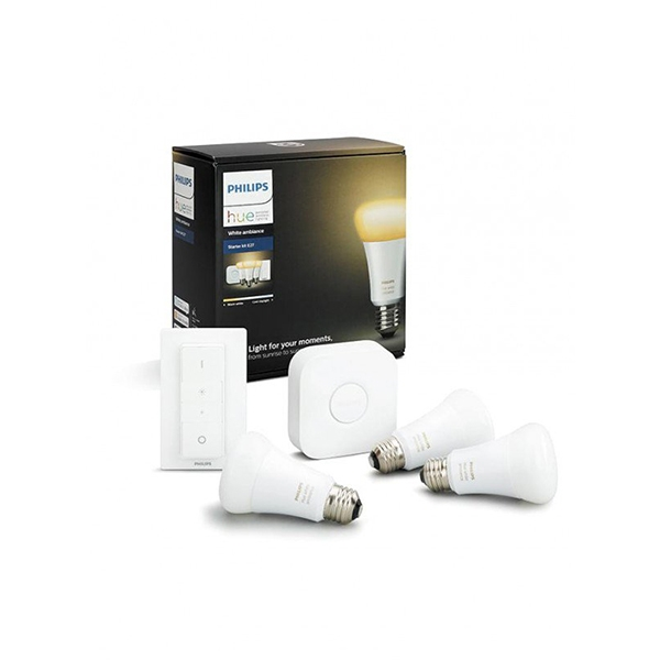 Philips Hue White Ambiance 9W E27 Starter Pack