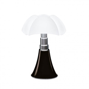 Martinelli Luce Pipistrello Medium 1965 Table Lamp Dark Brown