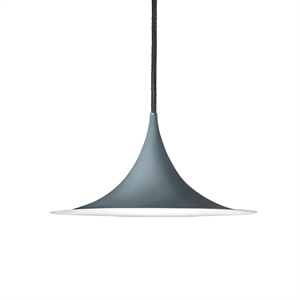 GUBI Semi Pendant Small Blank Anthracite  Grey