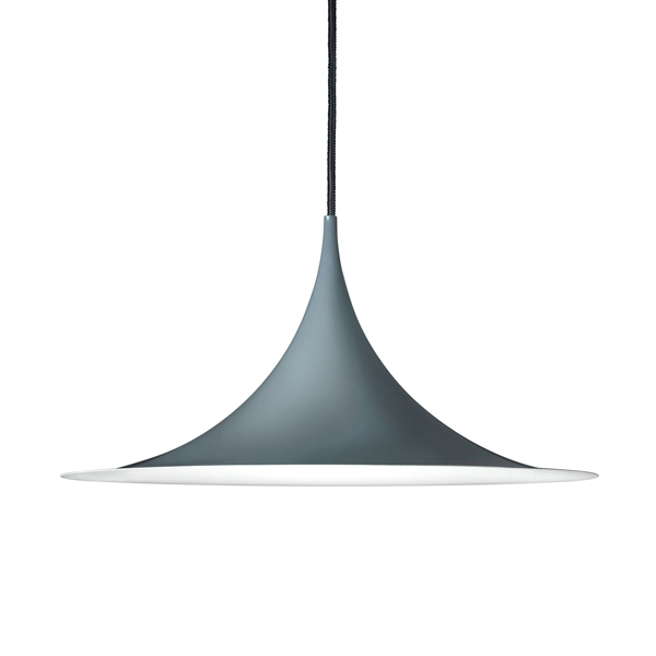 GUBI Semi Pendant Medium Blank Anthracite  Grey