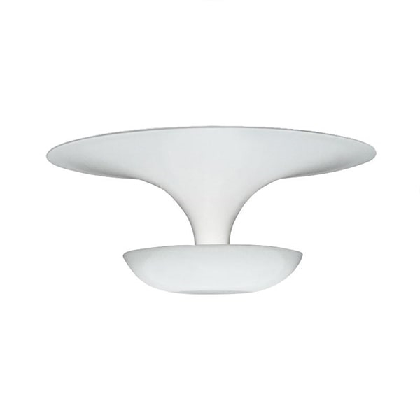 Vibia Medium Funnel Wall/Ceiling Light Glossy White