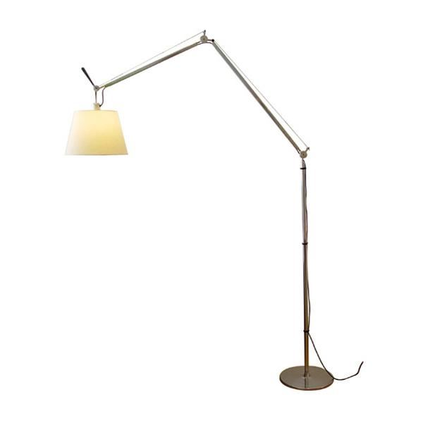 artemide tolomeo mega floor lamp parchment 36 cm shade w dimmer free shipping. Black Bedroom Furniture Sets. Home Design Ideas
