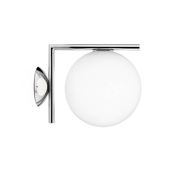 Flos Ic C W 1 Wall Lamp Chrome Free Amp Speedy Delivery