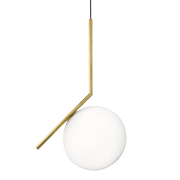 Flos Ic S2 Pendant Brass Shop Now With Free Speedy Delivery