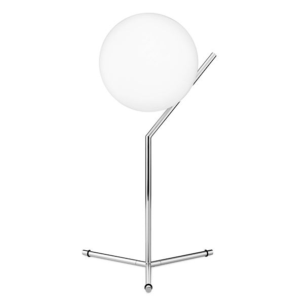 Flos IC T1 Tall Table Lamp Chrome