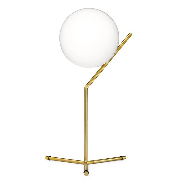 Flos IC T1 Tall Table Lamp Brass