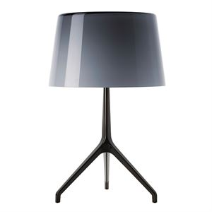 Foscarini Lumiere xxl Table Lamp Black Chromed & optional shade