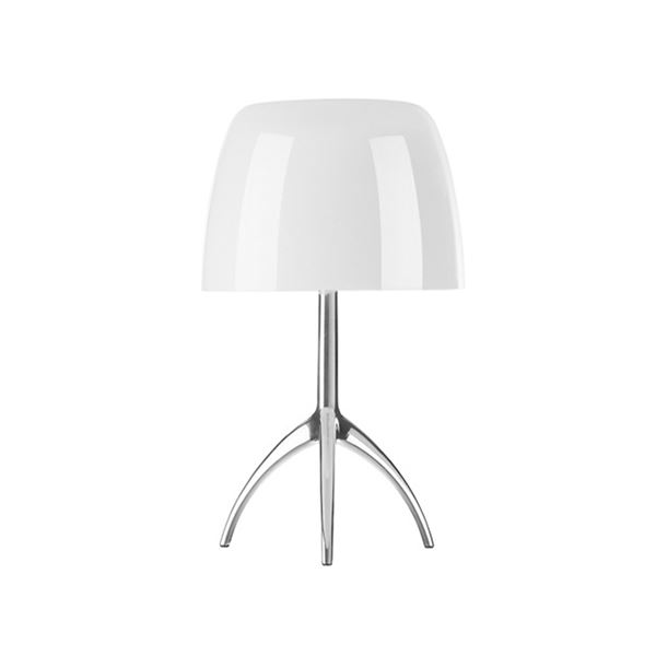 Foscarini Lumiere Table Lamp Piccola White Aluminium w. Dimmer