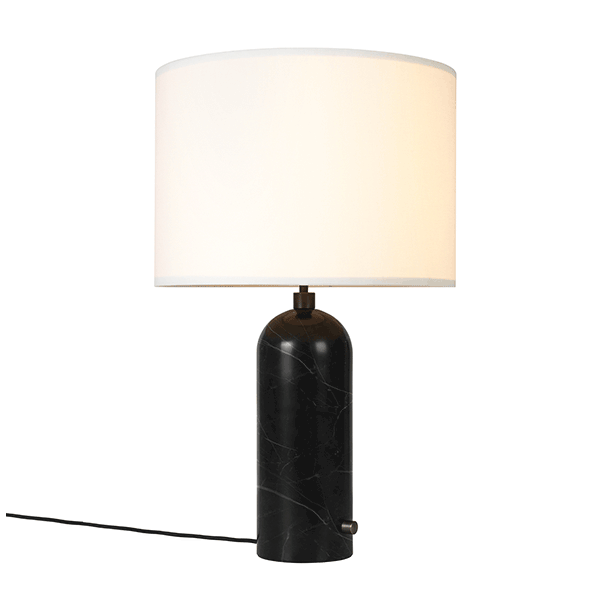 GUBI Gravity Table Lamp Black Marble U0026 White Shade Large