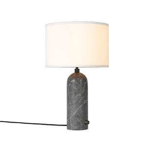 GUBI Gravity Table lamp Grey Marble & White Shade Small