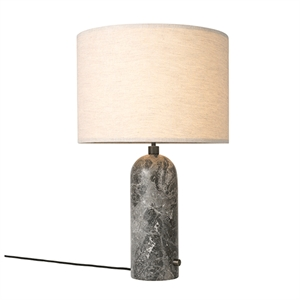GUBI Gravity Table lamp Grey Marble & Canvas Shade Large