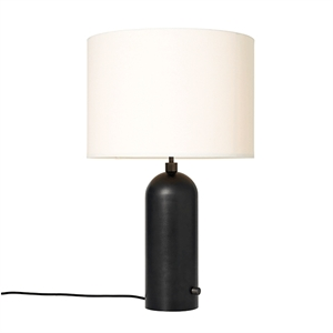 GUBI Gravity Table lamp Blackened Steel & White Shade Large