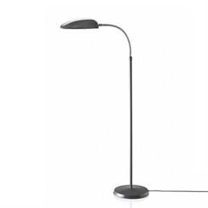 GUBI Grossman Collection Cobra Floor Lamp Anthracite  Grey