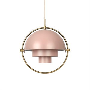 GUBI Multi-Lite Pendant Rose & Brass
