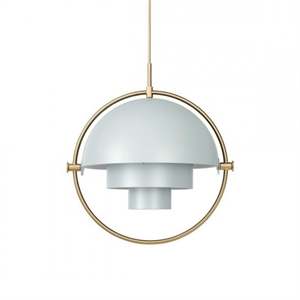 GUBI Multi-Lite Pendant Grey & Brass