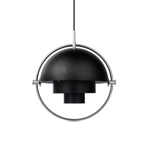 GUBI Multi-Lite Pendant Chrome & Black