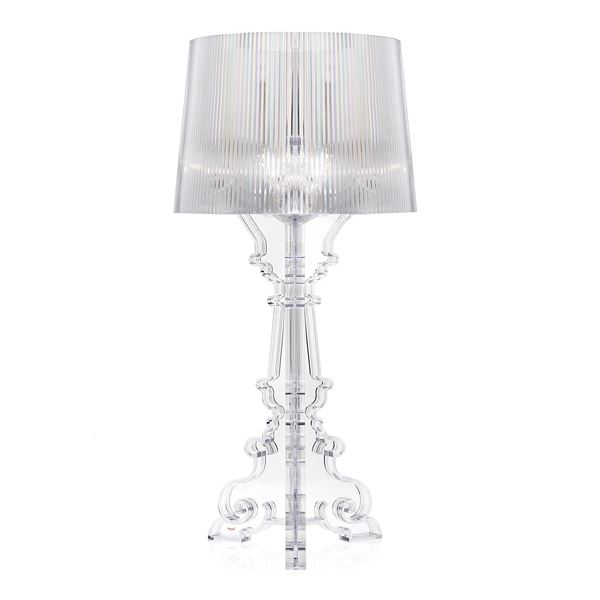 Kartell Bourgie Table Lamp Crystal w. switch - Fri fromgt!