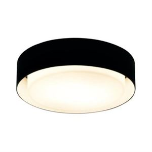 Marset Plaff On Black Ceiling and Wall Lamp