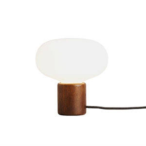 NEW WORKS Karl-Johan Table Lamp Smoked oak w. White Opal Glass