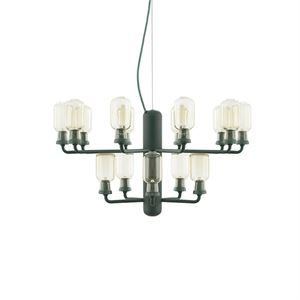 Normann Copenhagen Amp Chandelier  Gold & Green