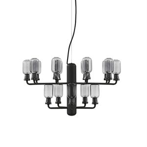 Normann Copenhagen Amp Chandelier  Smoke-coloured & Black