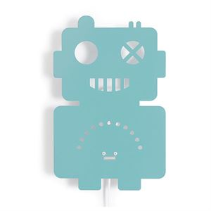 roommate Robot Silhouette Wall lamp Blue