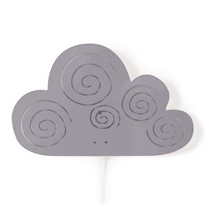 roommate Cloud Silhouette Wall lamp Grey
