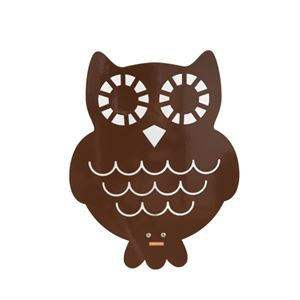 roommate Owl Silhouette Wall lamp  Brun