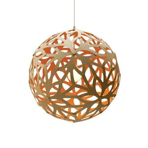 David Trubridge Floral Orange Pendel