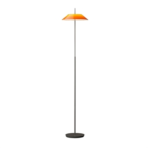 Vibia Mayfair Floor Lamp Glossy Orange & Black
